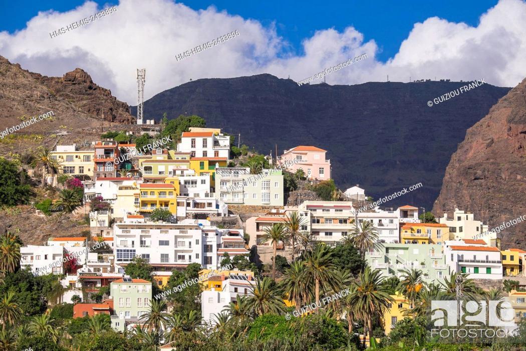 Imagen: Spain, Canary Islands, La Gomera island declared a Biosphere Reserve by UNESCO, Valle Gran Rey is the most popular searesort of the island, La Calera area.