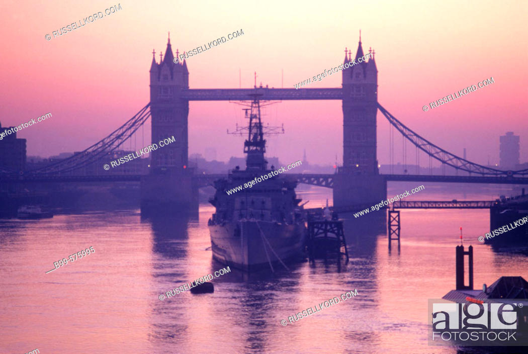 Stock Photo: Tower Bridge, London, England, Uk.