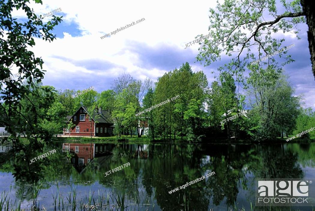 Stock Photo: Estonia, near Palamuse, lakes.