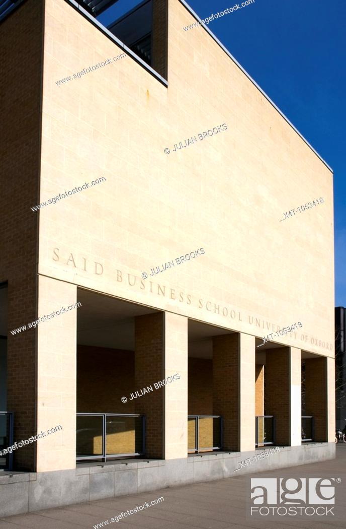 Stock Photo: The Said Business School, University of Oxford.