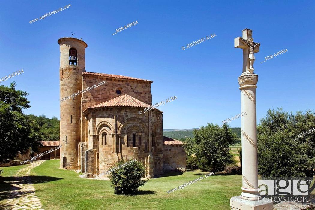 Stock Photo: Collegiate church. San Martin de Elines. Cantabria. Spain.