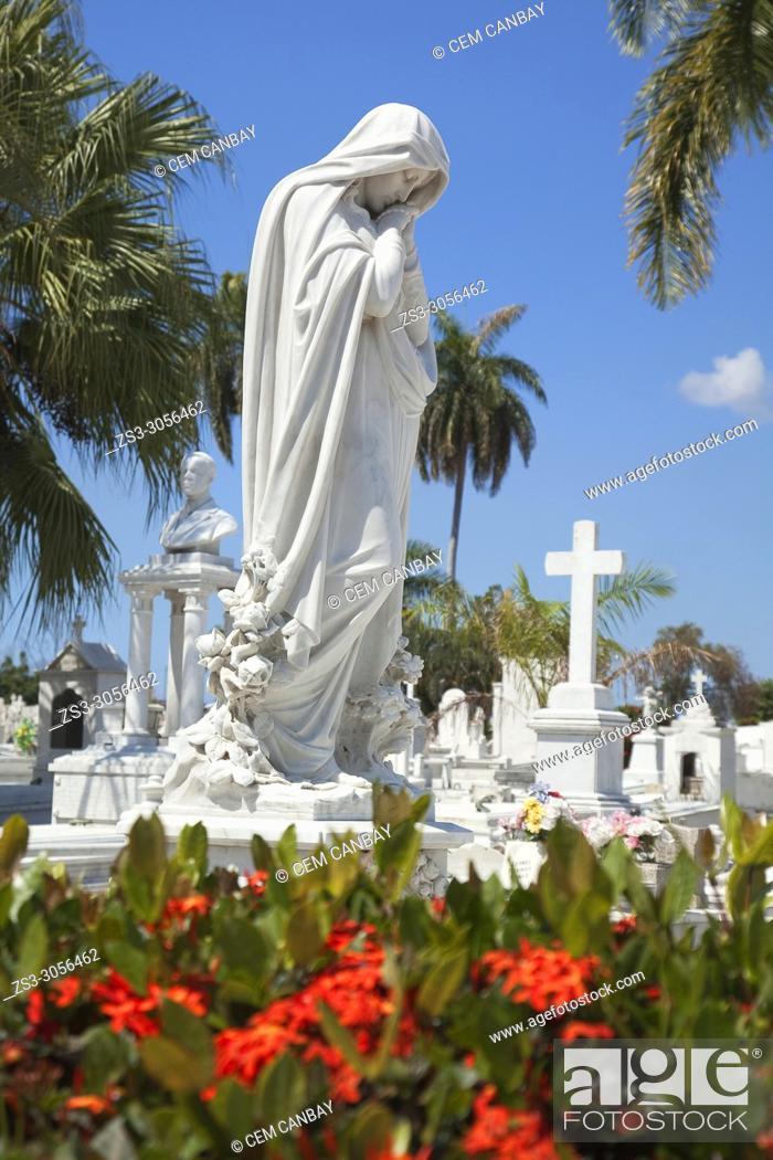 Imagen: View to the Sta. Ifigenia Cemetery-Cementerio Sta. Ifigenia at the city center, Santiago de Cuba, Cuba, Central America.