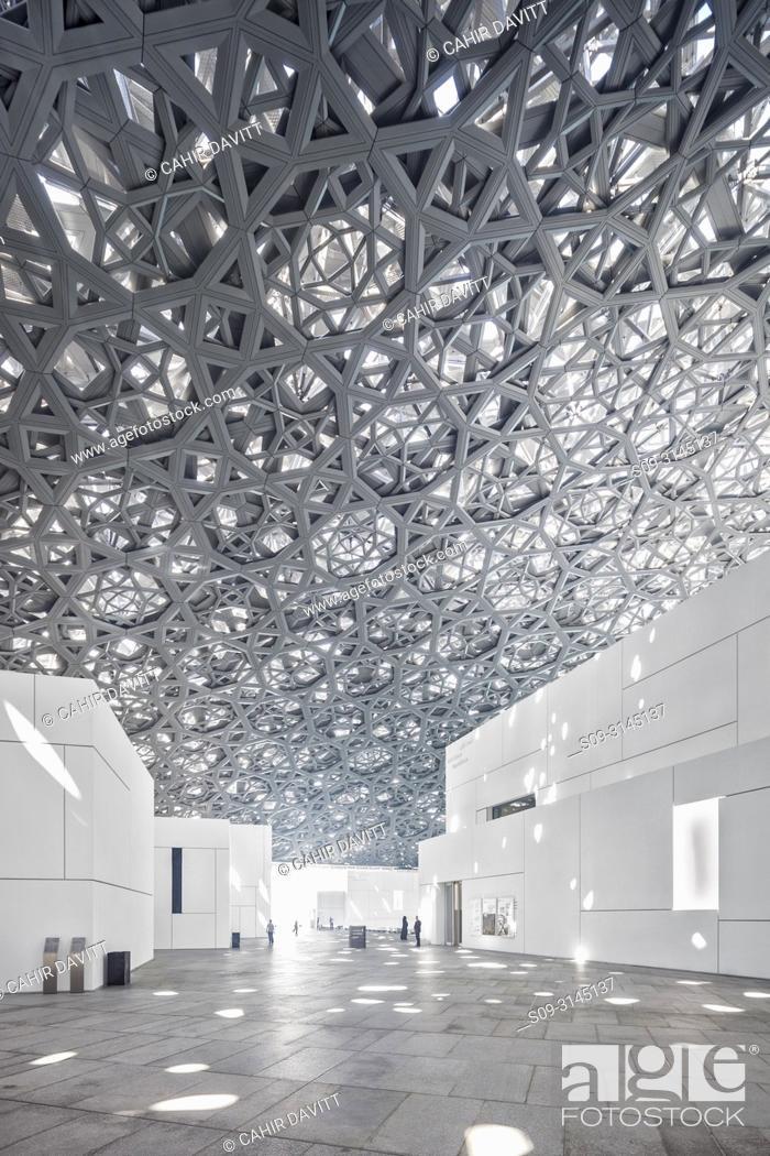 Stock Photo: Interior of the Abu Dhabi Louvre Art Museum designed by the architect Jean Nouvel, Saadiyat Island, Abu Dhabi, United Arab Emirates.