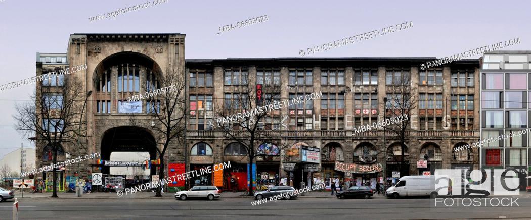 Stock Photo: Berlin, Mitte, The former Kunsthaus Tacheles (former Wertheim) in linear representation, squatting of the art scene of Berlin.