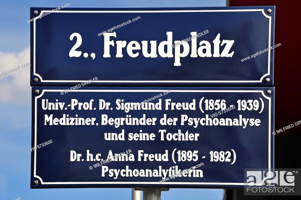 Straßenschild Freudplatz Wien 2 Bezirk Leopoldstadt