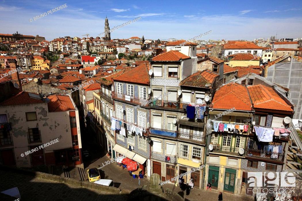 Stock Photo: Barredo neighbourhood, Porto, Portugal.