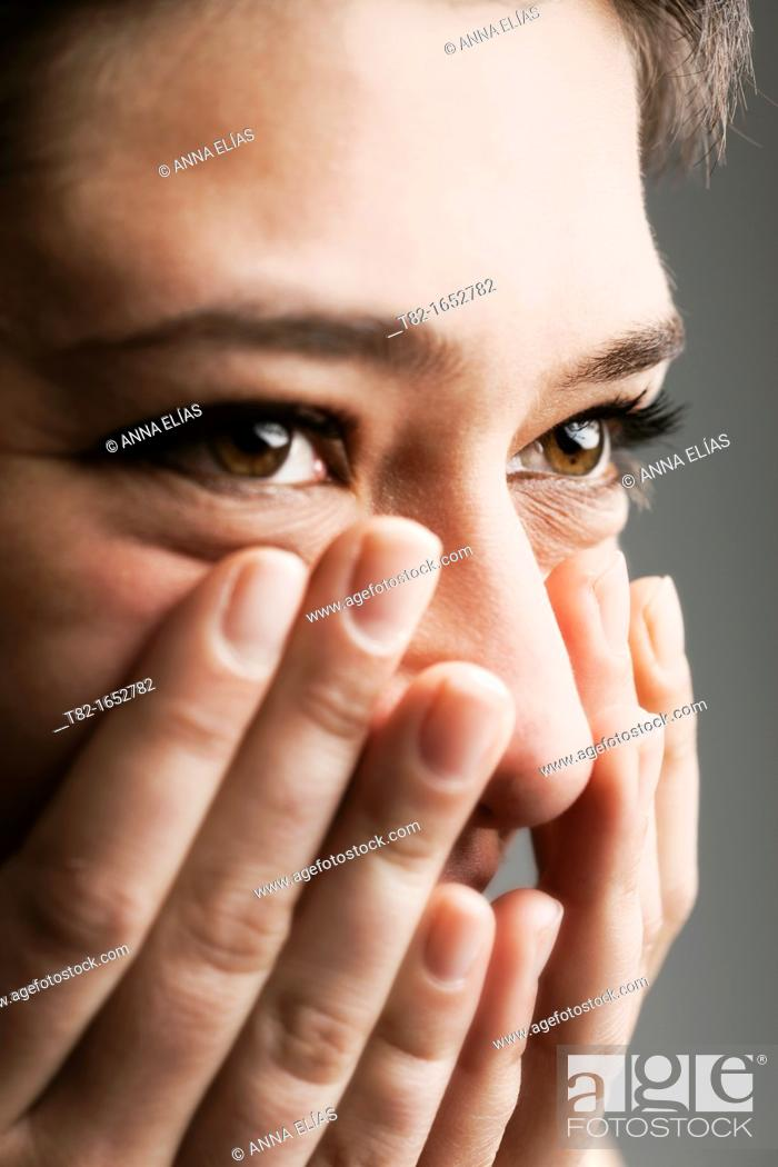 Stock Photo: Woman's face.