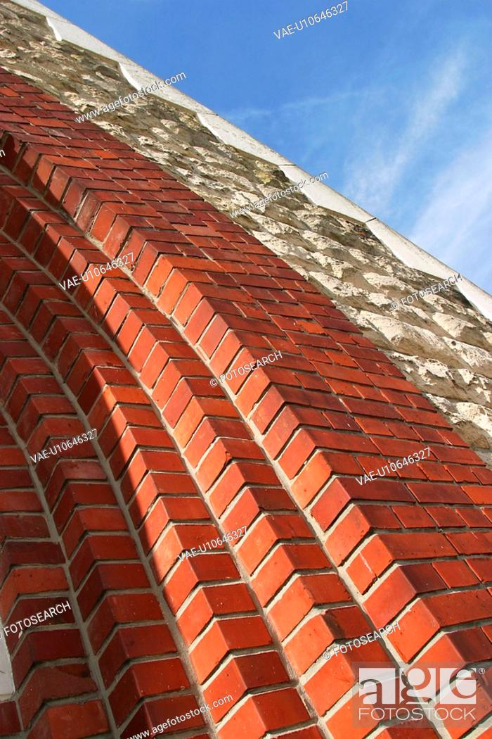 Stock Photo: mortar, arrangement, bricks, pattern, wall, appearance.