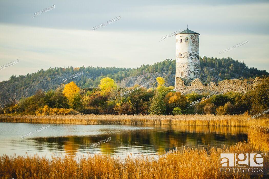 Stock Photo: Castle of Stegeborg, Sweden.