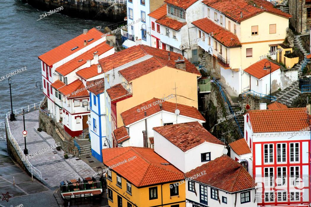 Stock Photo: Cudillero, Asturias, Spain.