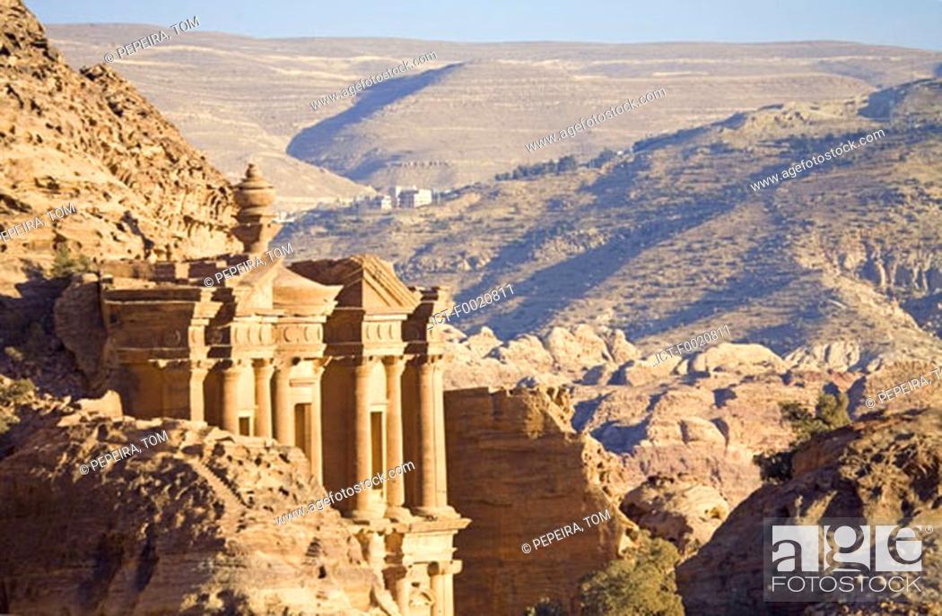 Stock Photo: Jordan, Petra, the Deir.
