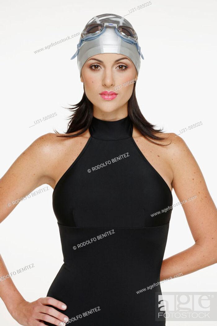 Stock Photo: Woman in swimming costume.