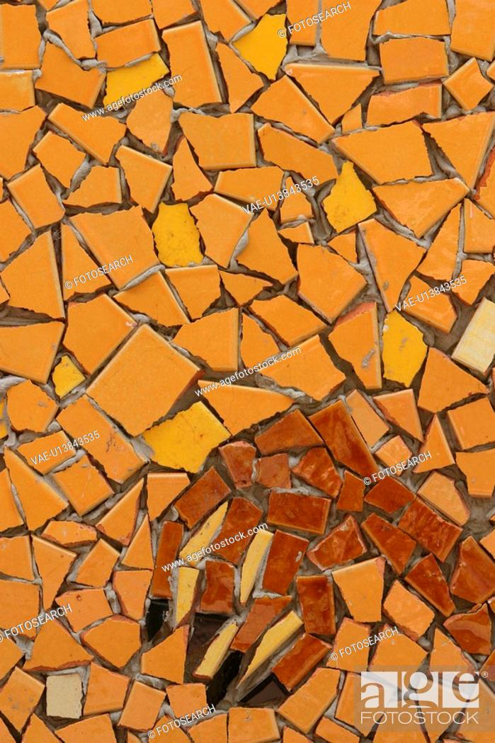 Stock Photo: Background, Broken, Exterior, Outdoors, Pattern, Stone Wall.