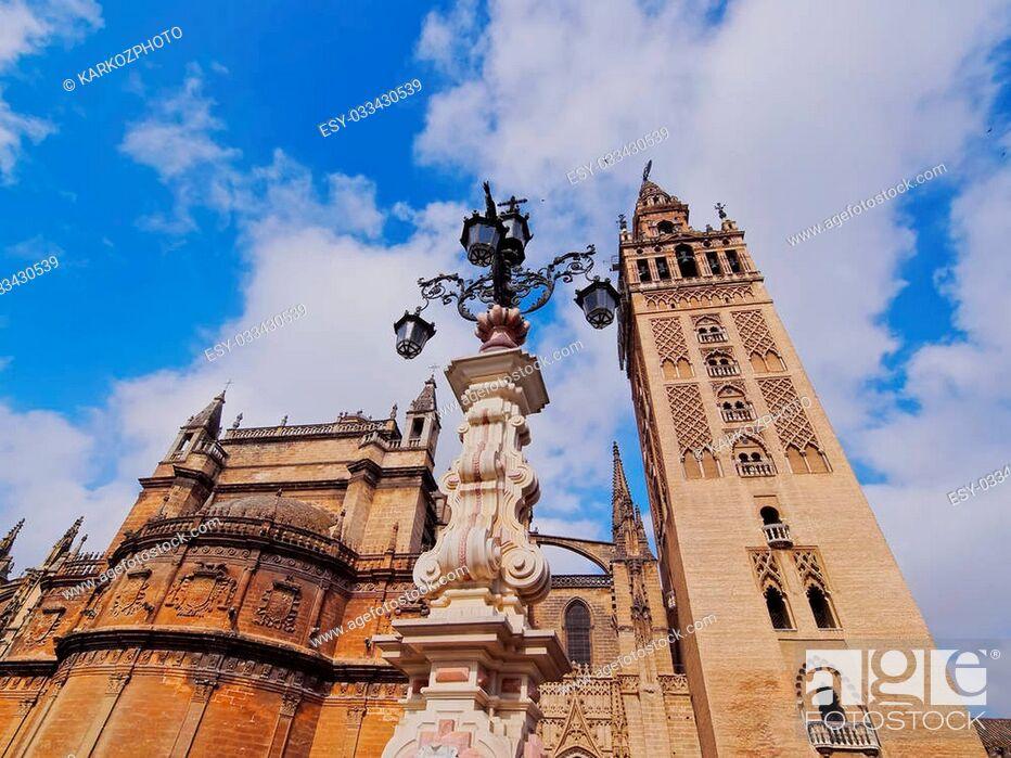 Stock Photo: Santa Maria de la Sede Cathedral in Seville, Andalusia, Spain.
