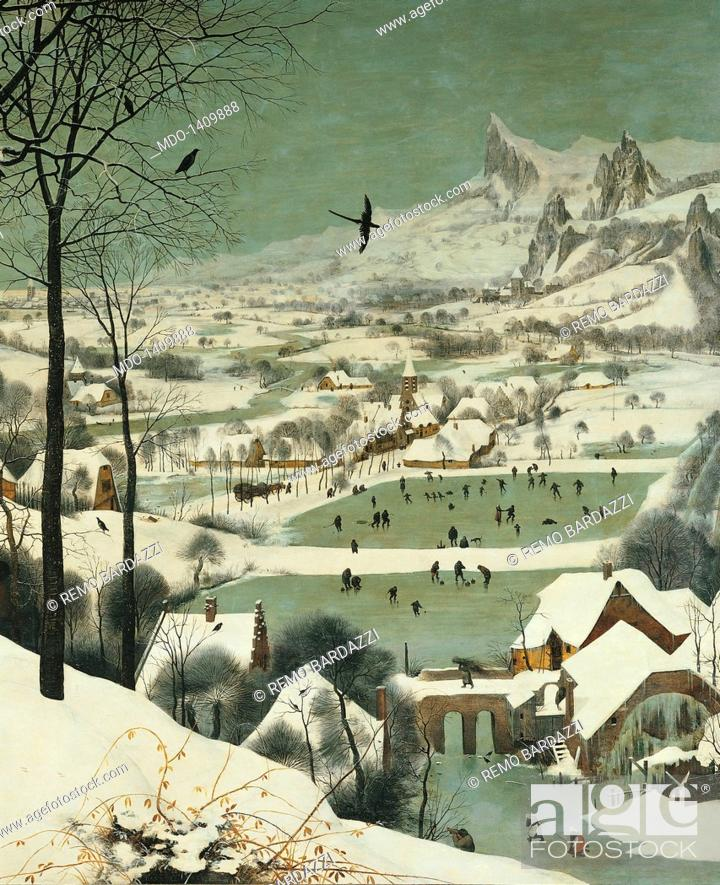 The Hunters In The Snow By Pieter Bruegel The Elder 1565 16th Century Oil On Wood 117 X 162 Cm Stock Photo Picture And Rights Managed Image Pic Mdo 1409888 Agefotostock