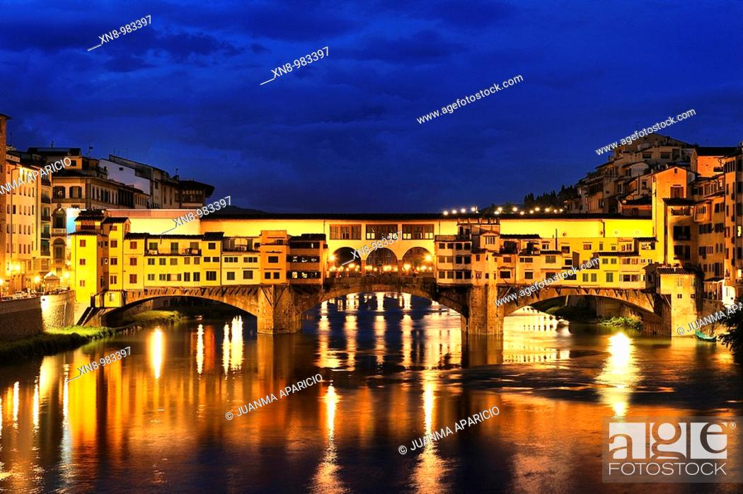 Stock Photo: Ponte Vecchio, FlorenceFlorence (Firenze in Italian) is a city located in northern central Italy, capital and largest city of the homonymous province and the.