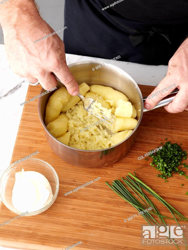 Stock Photo: How to make Rolled Rare Lamb Ratatouille Step 09.