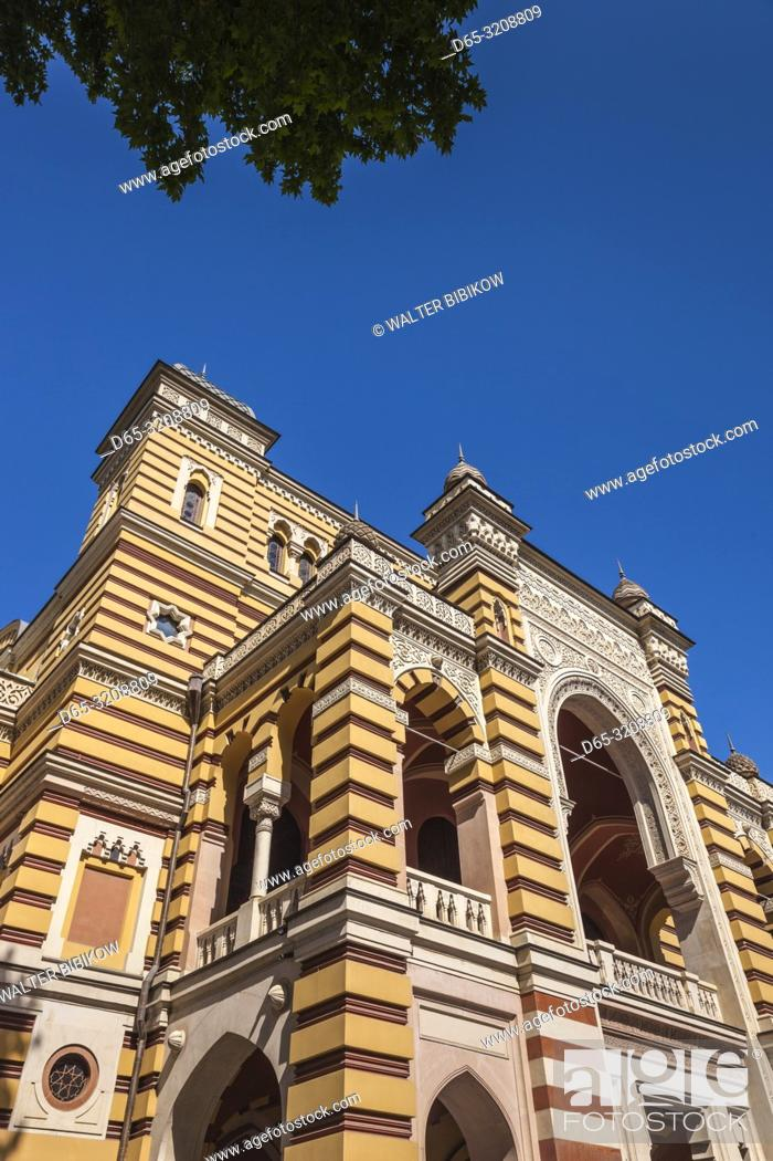 Stock Photo: Georgia, Tbilisi, Rustaveli Avenue, Opera and Ballet Theater, exterior.