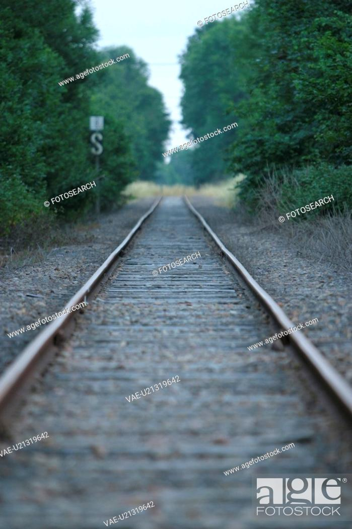 Stock Photo: Railroad, Track, Way.