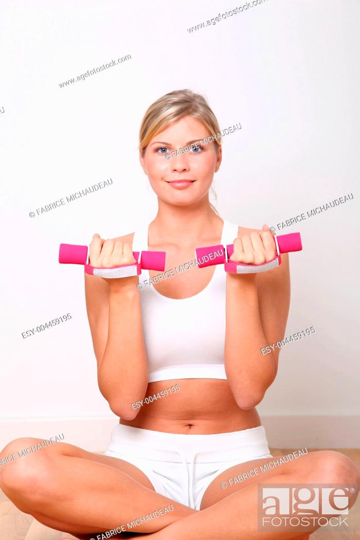 Stock Photo: Fitness exercices.
