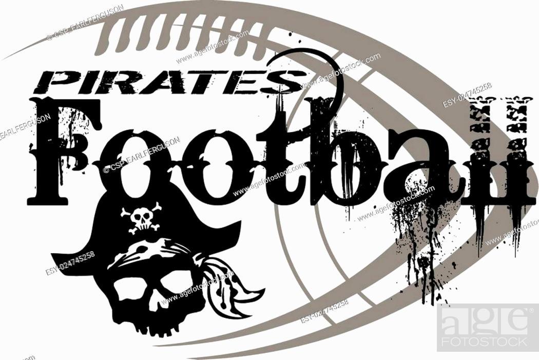 Stock Vector: pirates football.