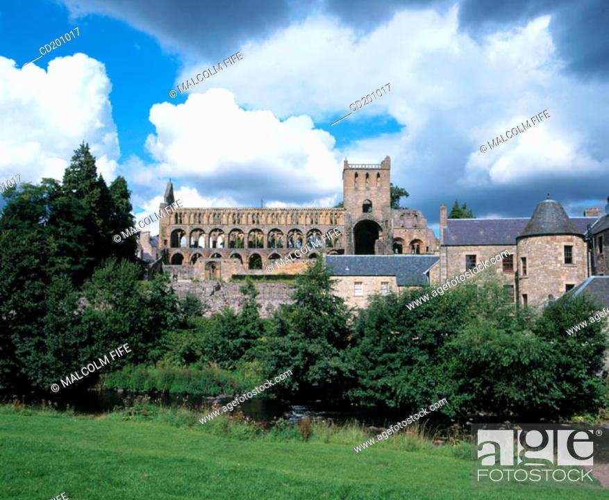 Stock Photo: Jedburgh Abbey. Scottish Borders. Scotland.