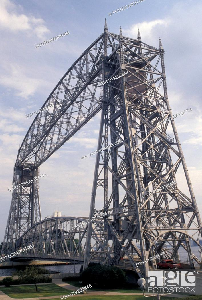 Aerial Lift Bridge Duluth Mn Minnesota Lake Superior Canal Park