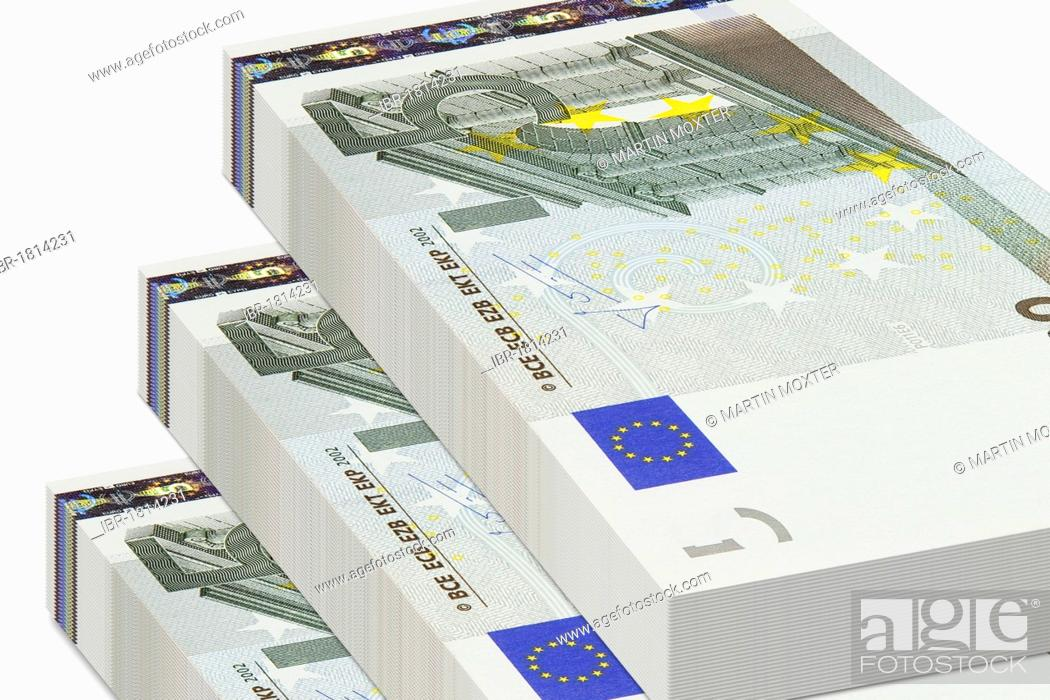 Bundles Of 5 Euro Bank Notes Stock Photo Picture And Rights
