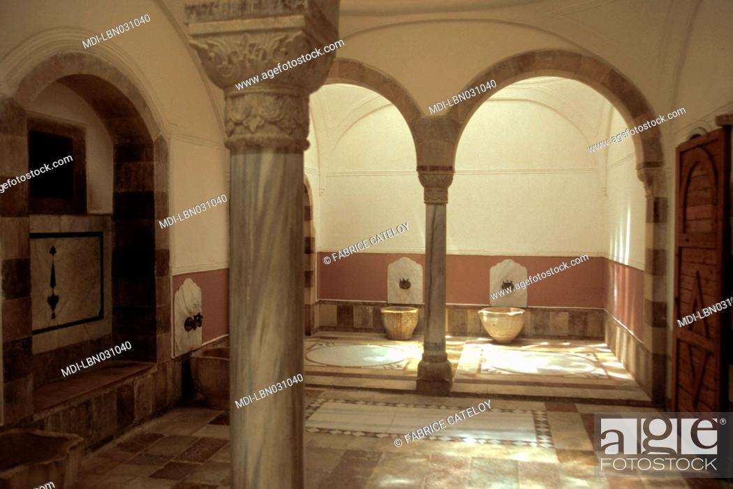 Stock Photo: Hammam or baths dating to Roman times.