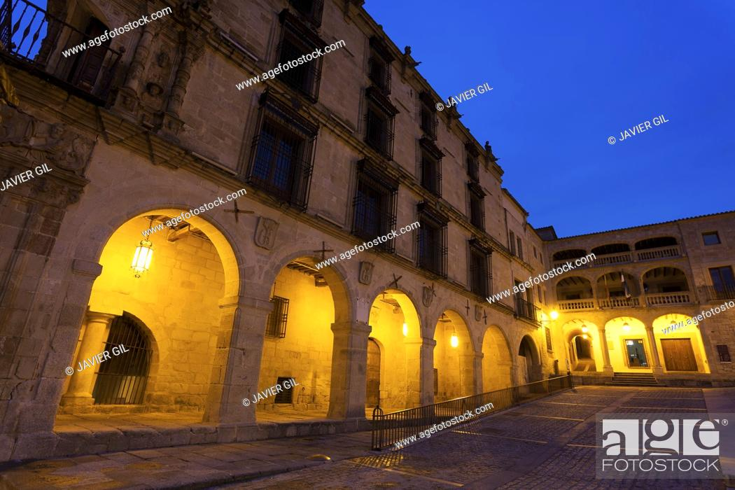 Stock Photo: Conquest palace, Trujillo, Caceres, Extremadura, Spain.