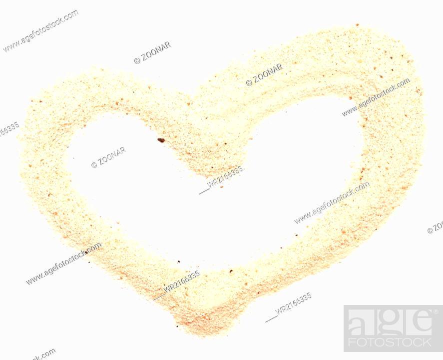 Imagen: sand heart.