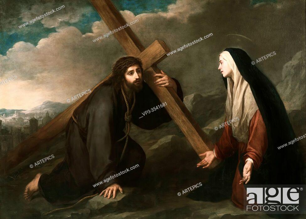 Stock Photo: Bartolomé Esteban Murillo - Christ Bearing the Cross.