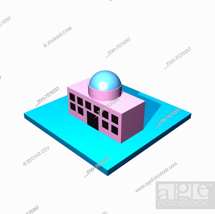 Office Building Cartoon Icon Isolated On White Stock Photo Picture And Rights Managed Image Pic Zon 7575397 Agefotostock