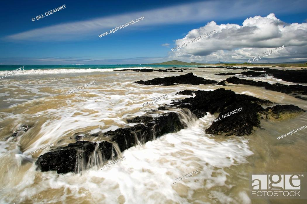 Stock Photo: Pristine Beach on Isabela Island - Galapagos Islands, Ecuador.