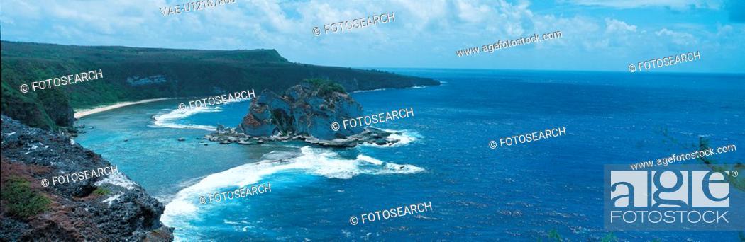 Stock Photo: cliff, scenery, ocean, sea, landscape, seaside.