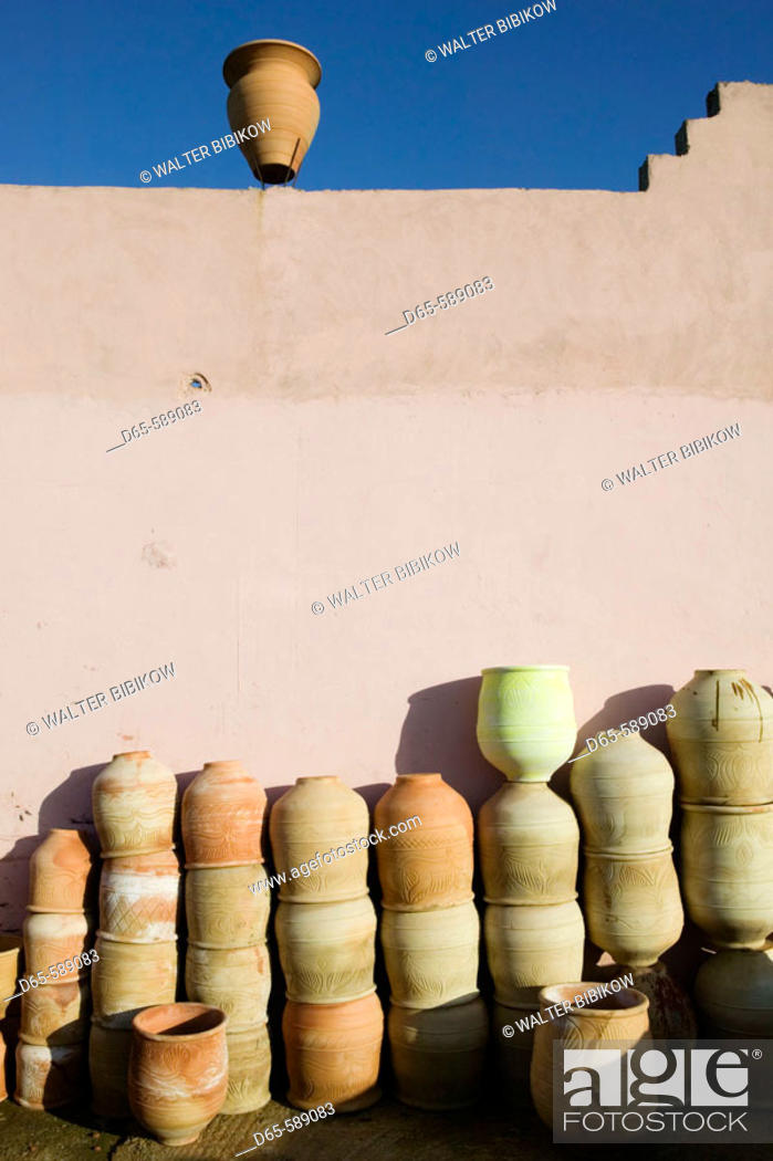 Stock Photo: Morocco-Sale (town across from Rabat): Complexe des Poitiers / Pottery Cooperative-Pottery.