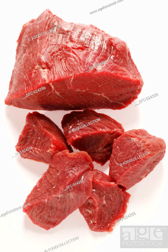 Stock Photo: Beef, diced.