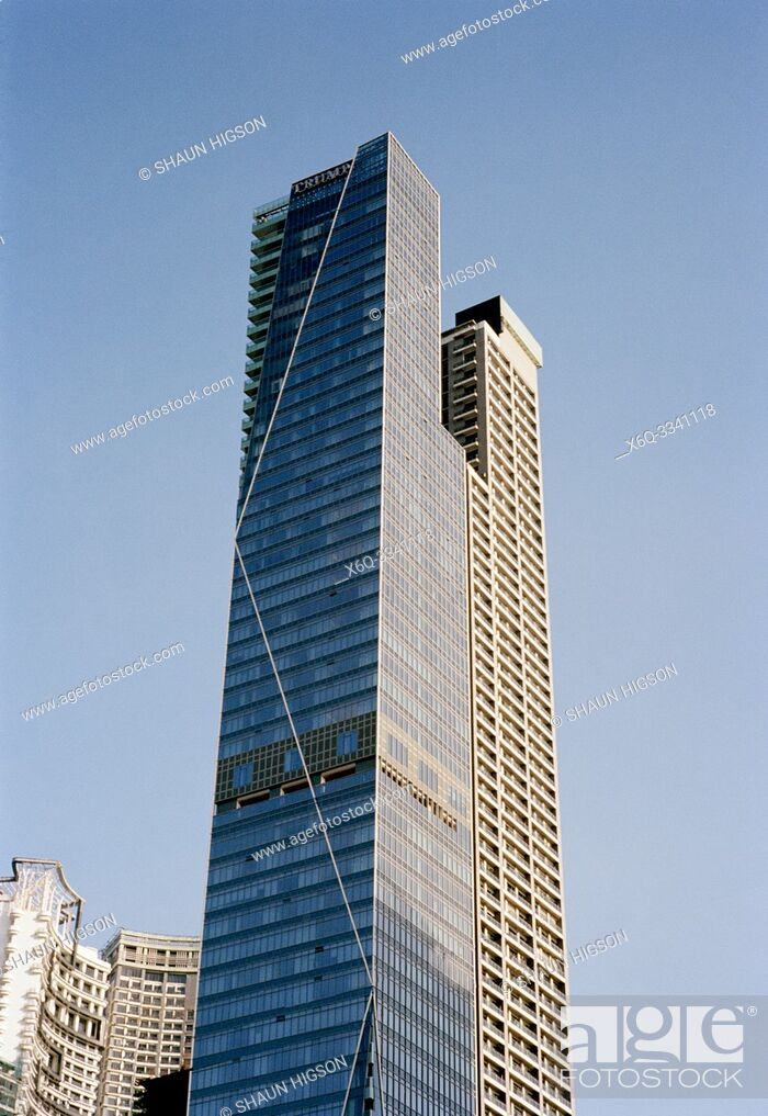 Imagen: Trump Tower in Makati in Manila in Luzon Metro Manila in the Philippines in Southeast Asia Far East.