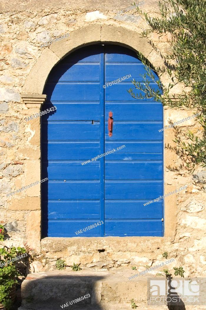 Stock Photo: Closed, Architecture, Building Structure, Building Exterior, Blue, Arch.