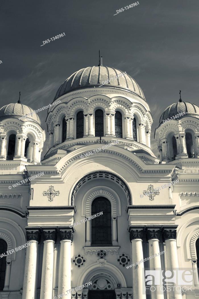 Stock Photo: Lithuania, Central Lithuania, Kaunas, St  Michael the Archangel Church.