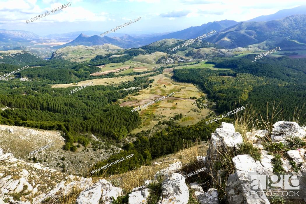 Stock Photo: Hills and mountains near Mormanno, Calabria, Italy.