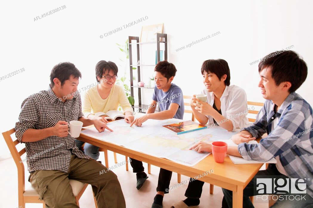 Stock Photo: Japanese roommates.