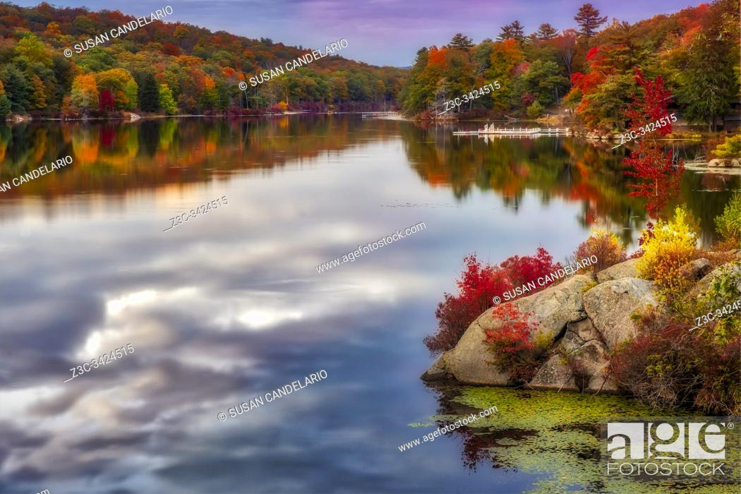 Stock Photo: Harriman State Park In Autumn.