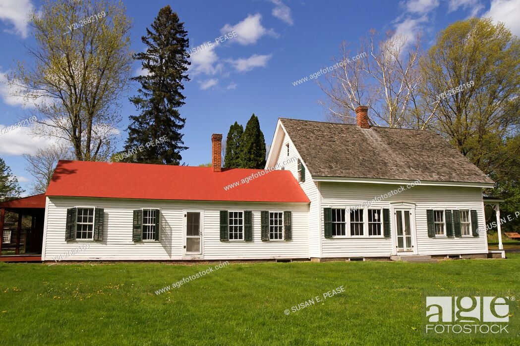 Stock Photo: A private home in Old Deerfield, Massachusetts, United States, North America. Editorial use only.