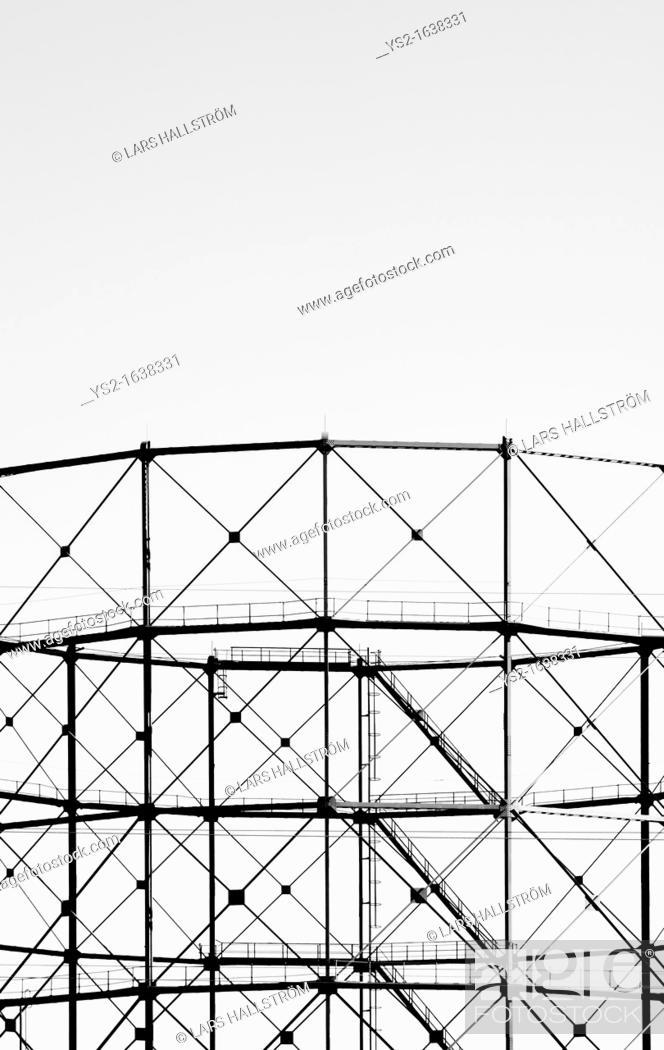 Stock Photo: Gasometer.