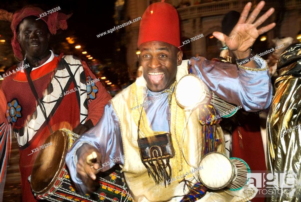Stock Photo: Three Kings Parade. Madrid. Spain.