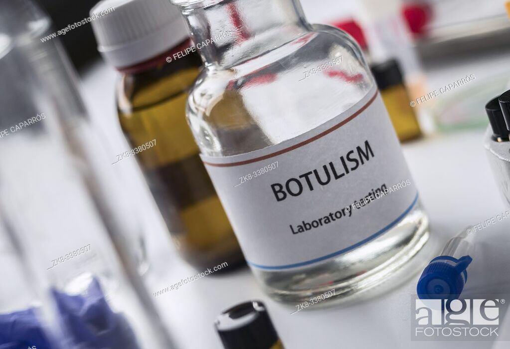 Stock Photo: Botulism samples in laboratory, conceptual image.