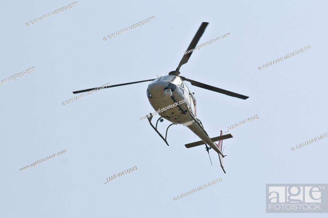 Stock Photo: helicopter, flying.
