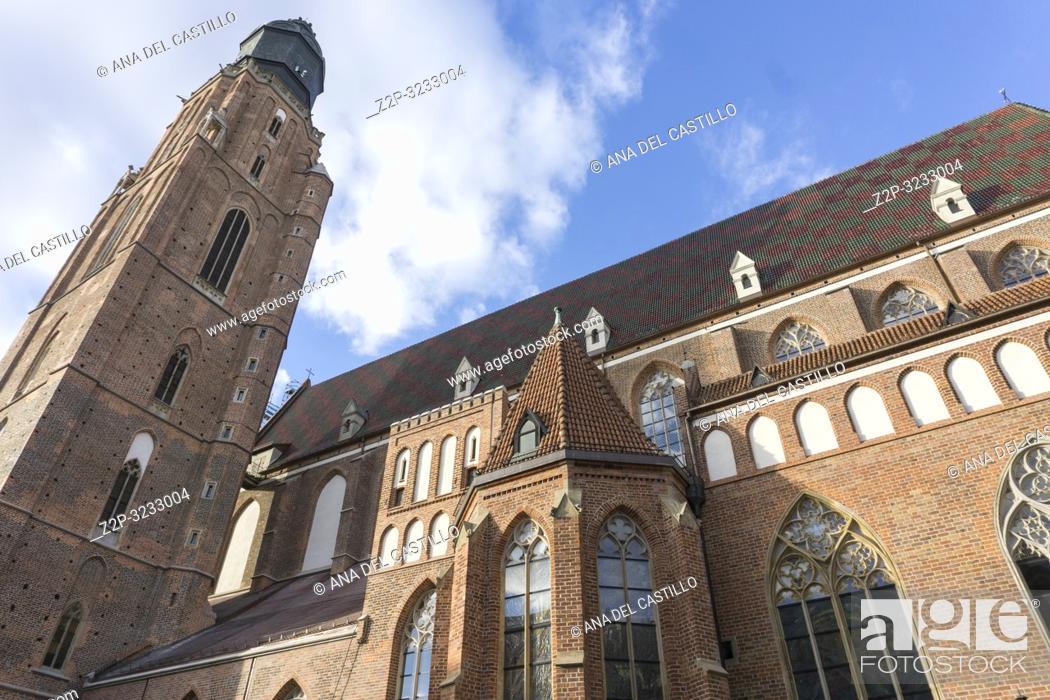 Stock Photo: St. Elizabeth's Church Wroclaw Poland.