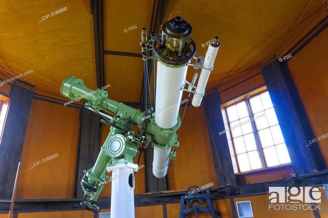 Stock Photo: Telescope. Tartu Old Observatory. Tartu. Estonia.